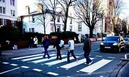 The Beatles' Abbey Road crossing is tourist hot spot