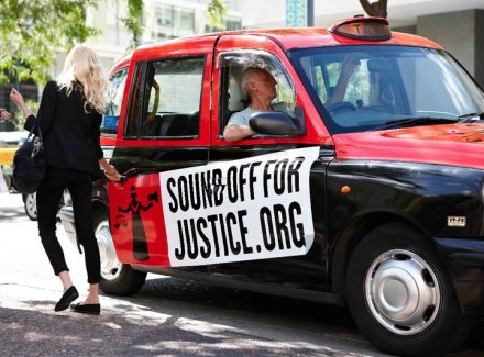 Sound Off For Justice black cab