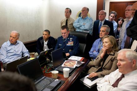 Barack Obama and team during Osama bin Laden operation