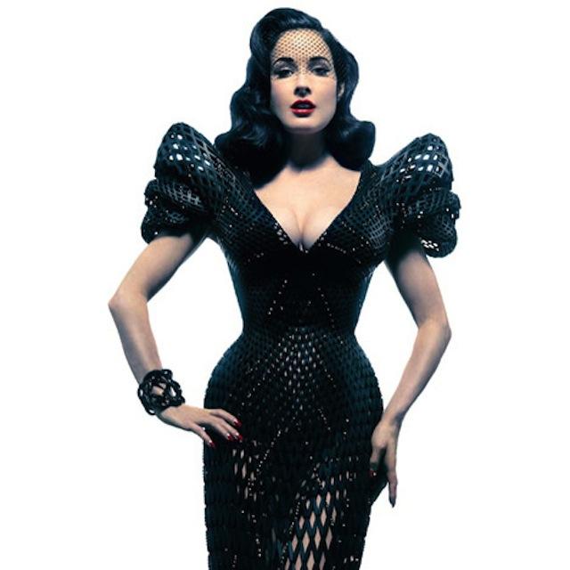 Dita von Teese 3D Printed Dress Michael Schmidt-Francis Bitonti_01