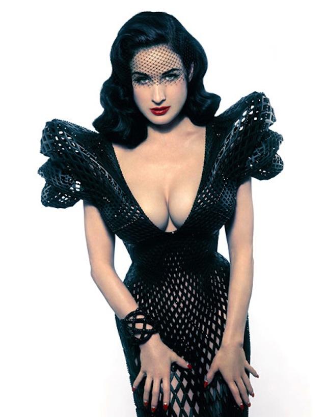 Dita von Teese 3D Printed Dress Michael Schmidt-Francis Bitonti_02