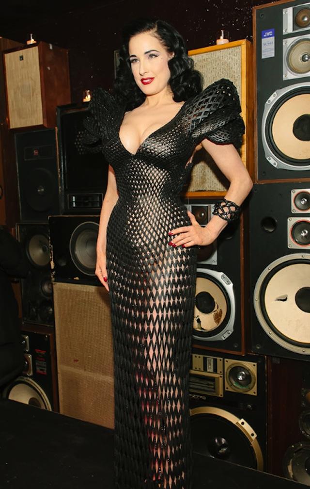 Dita von Teese 3D Printed Dress Michael Schmidt-Francis Bitonti_03