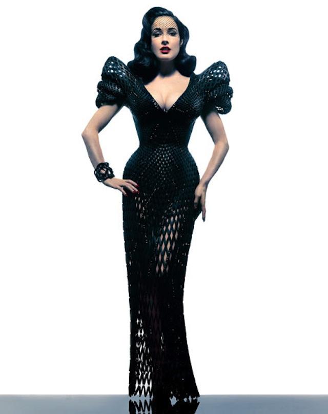 Dita von Teese 3D Printed Dress Michael Schmidt-Francis Bitonti_06