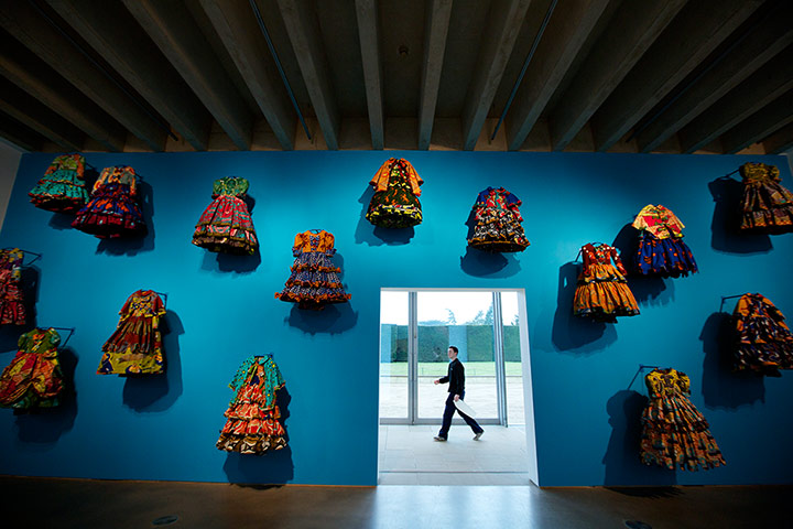 Little rich girls by Yinka Shonibare