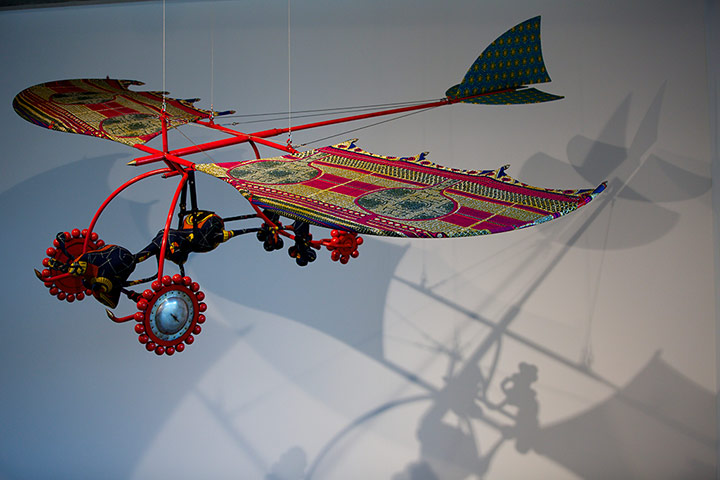 Alien Woman on Flying Machine by Yinka Shonibare