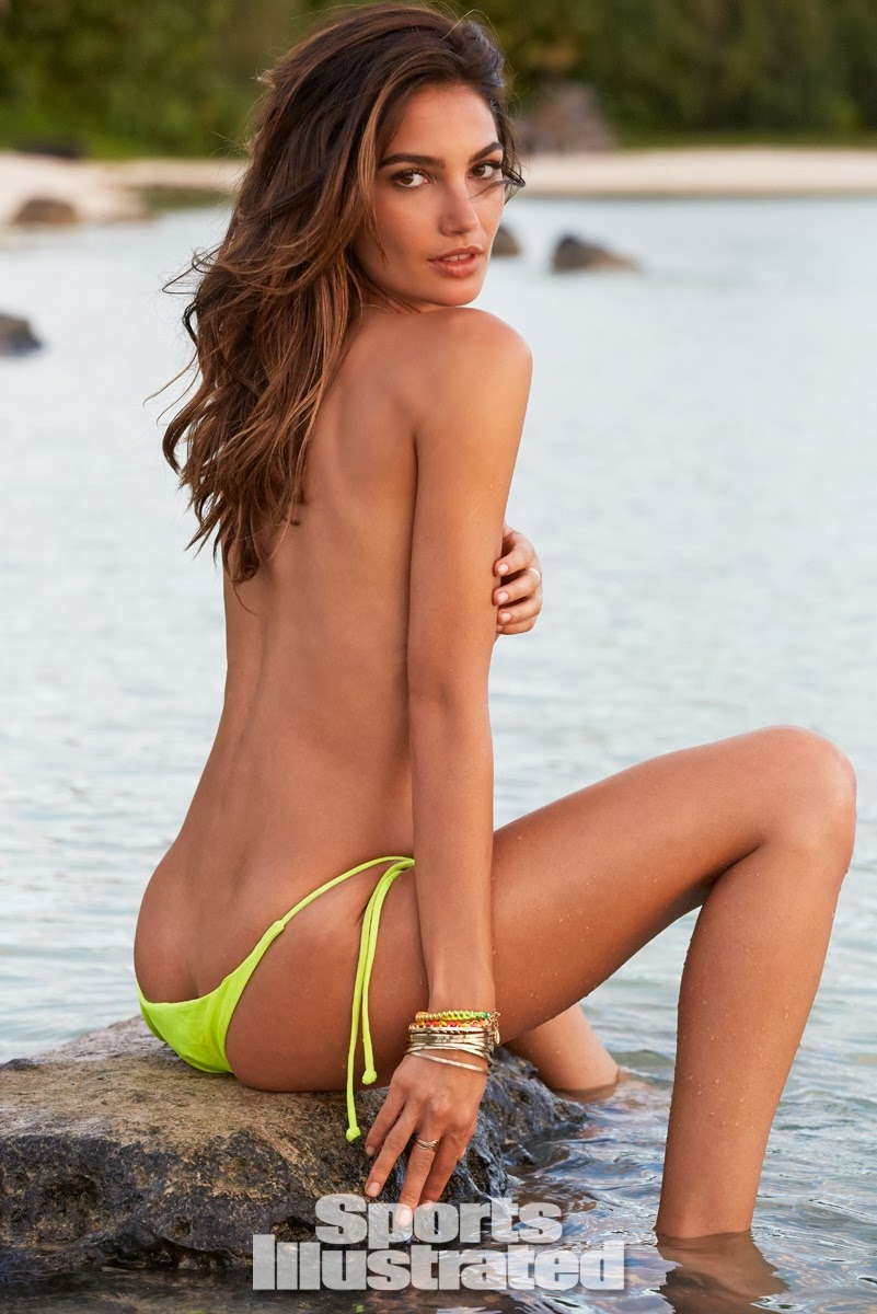 Nude model illustrated sports swimsuit